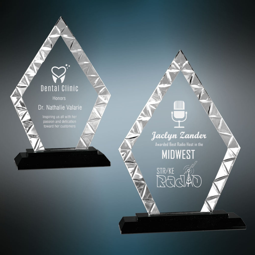 Diamond Accent Glass Award - Art Glass