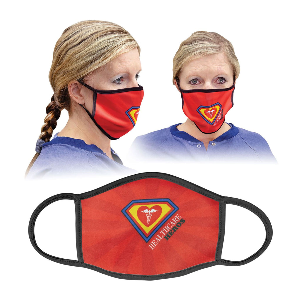 Custom Face Mask - 6.5 x 5.5 (Large) / Black - Bags & Apparel