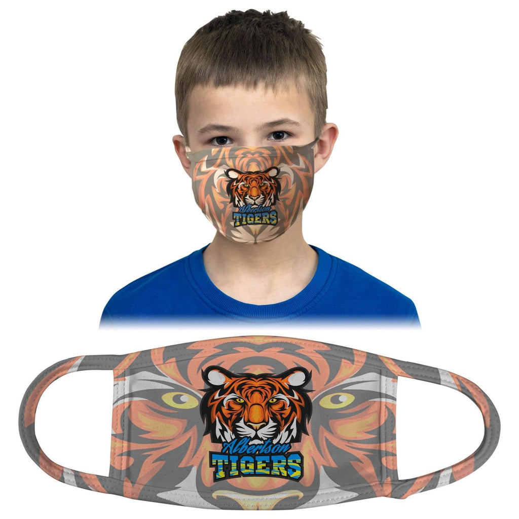 Custom Face Mask - 6 x 4 (Youth) / White / Printed - Bags & Apparel