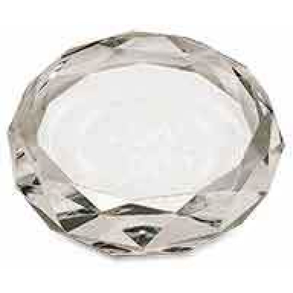 Faceted Crystal Paperweight - Circle - Office Gifts