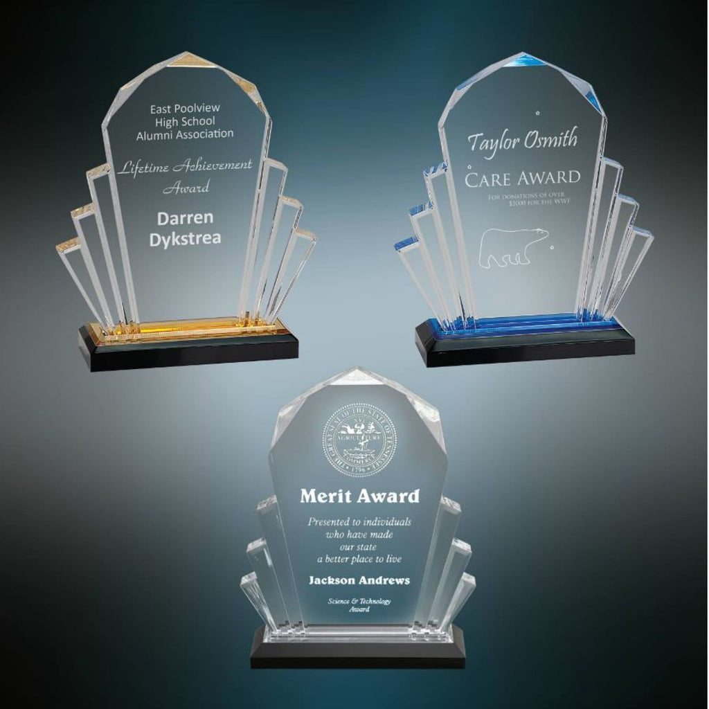 Faceted Impress Award - Acrylic Awards