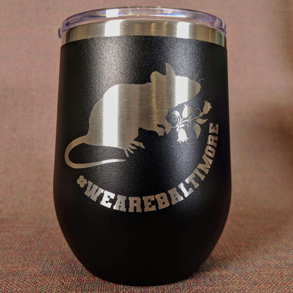 Flower Rat Stainless Steel Mug - Black - Chase Street Originals