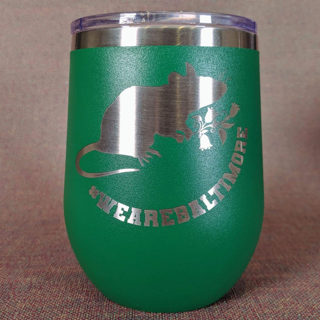 Flower Rat Stainless Steel Mug - Green - Chase Street Originals