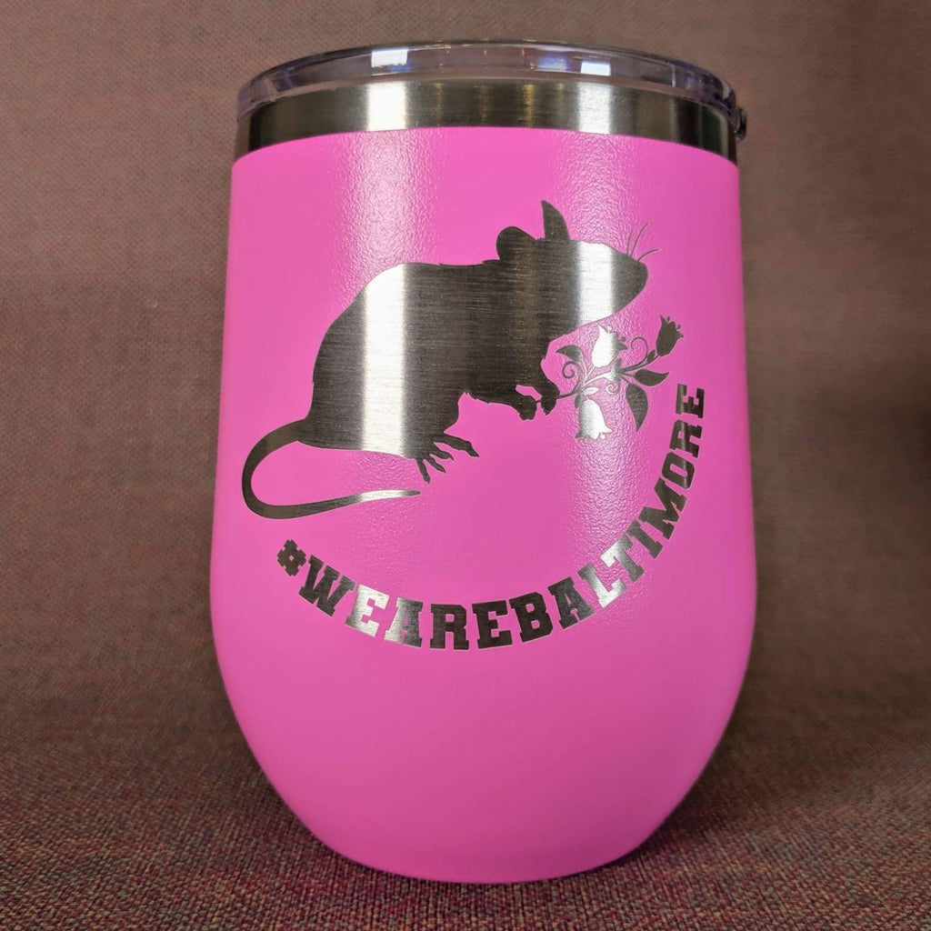 Flower Rat Stainless Steel Mug - Pink - Chase Street Originals