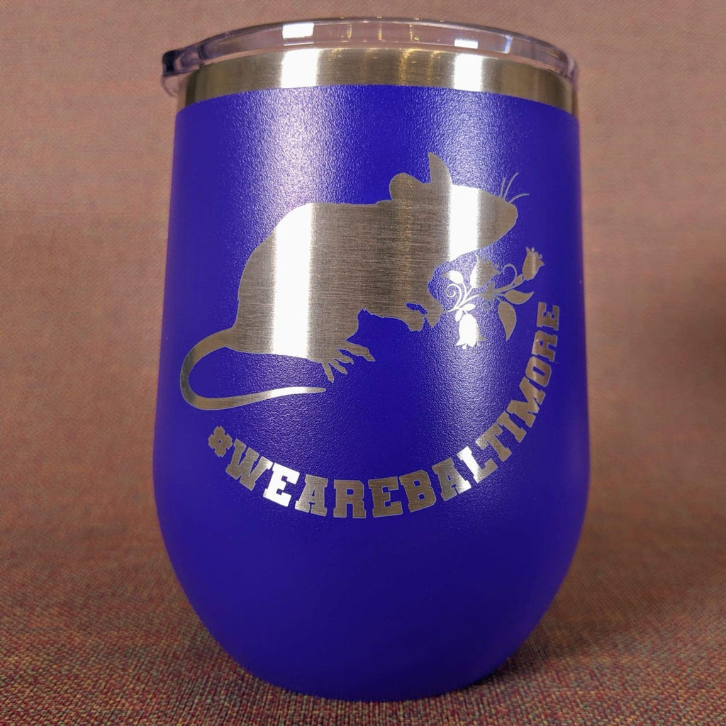 Flower Rat Stainless Steel Mug - Purple - Chase Street Originals
