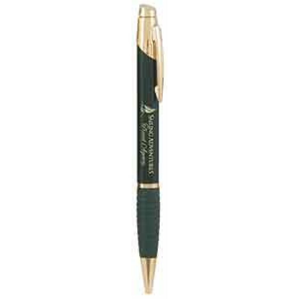 Gloss Ballpoint Pen with Gripper - Black - Office Gifts