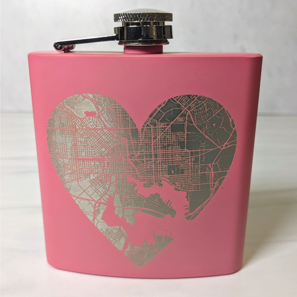 Heart of Baltimore Stainless Steel Flask - Chase Street Originals