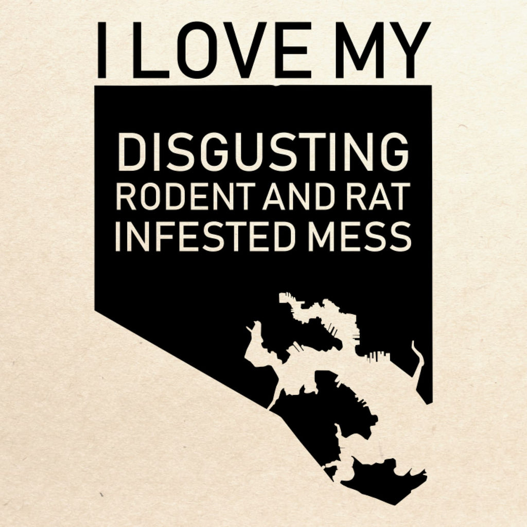 I Love My Disgusting Rat and Rodent Infested Mess Large Canvas Tote - Chase Street Originals