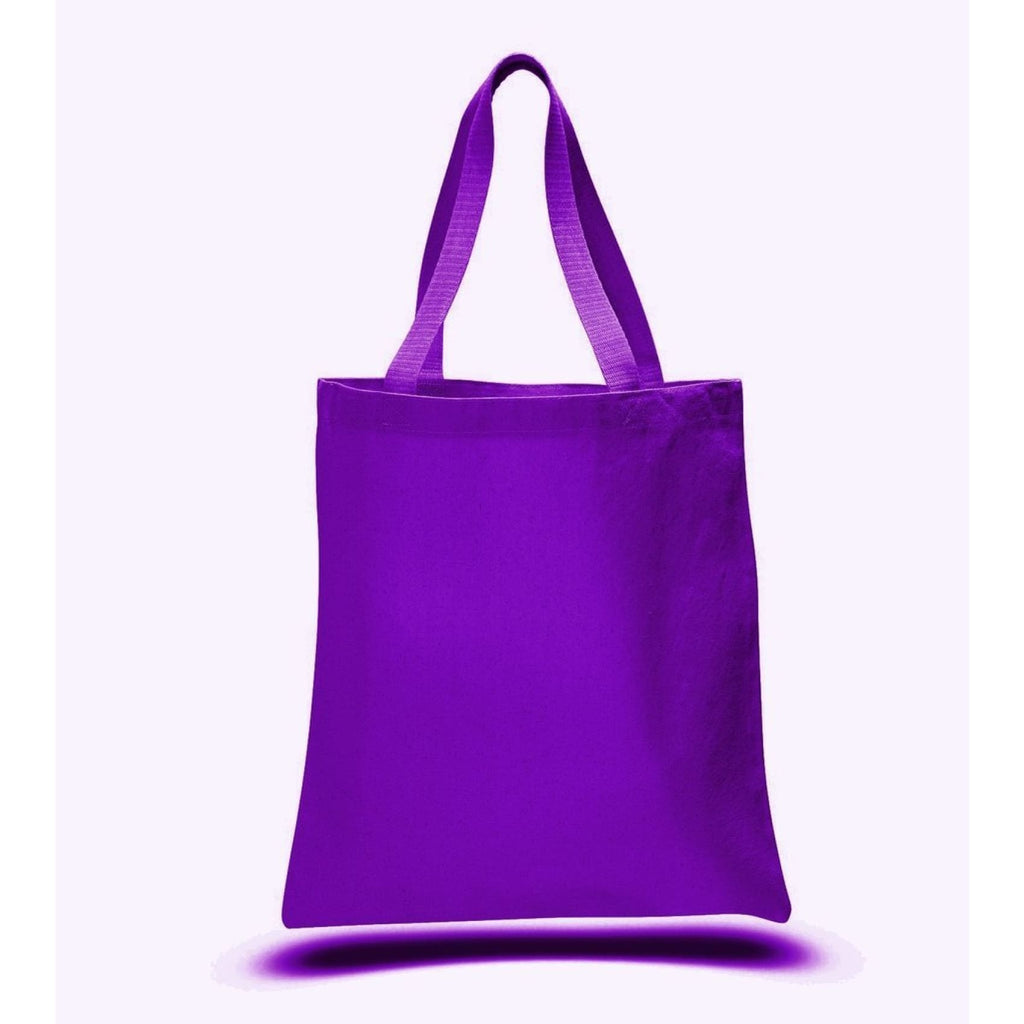 Large Canvas Tote - Purple - Bags & Apparel