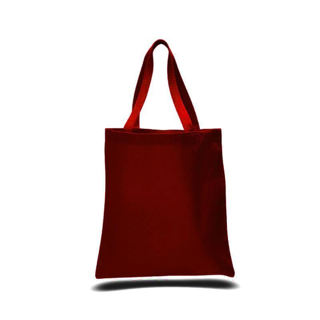 Large Canvas Tote - Red - Bags & Apparel