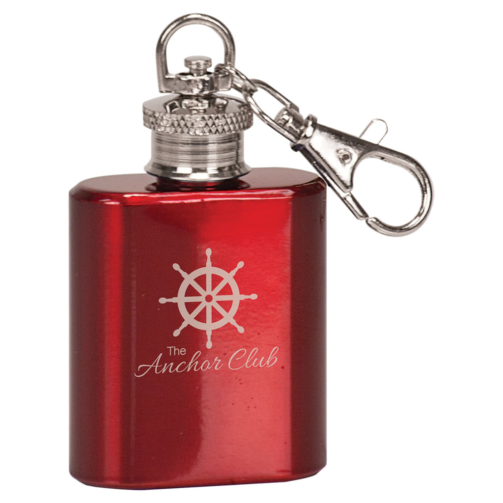 Mini Flask Keychain - Gloss Red - Drinkware