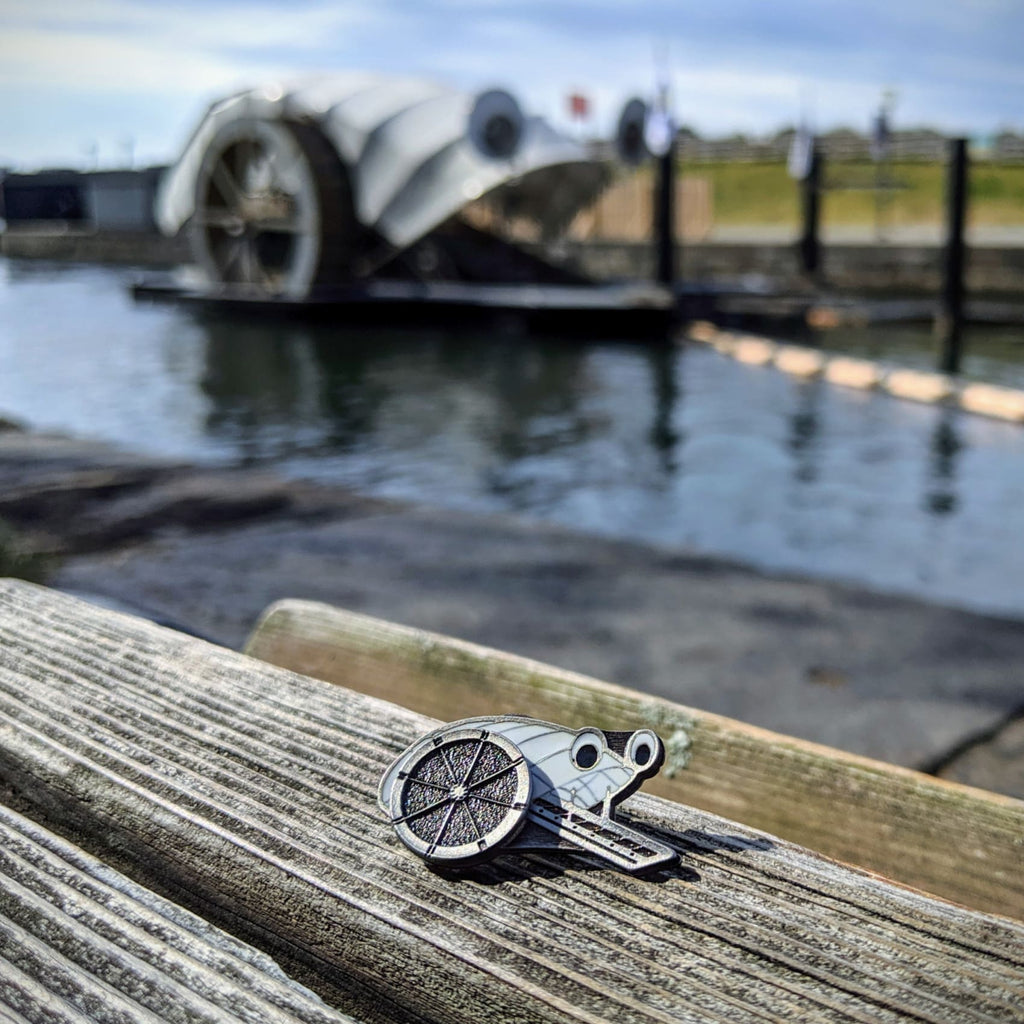 Mr. Trash Wheel Kinetic Pin - Silver-tone - Chase Street Originals