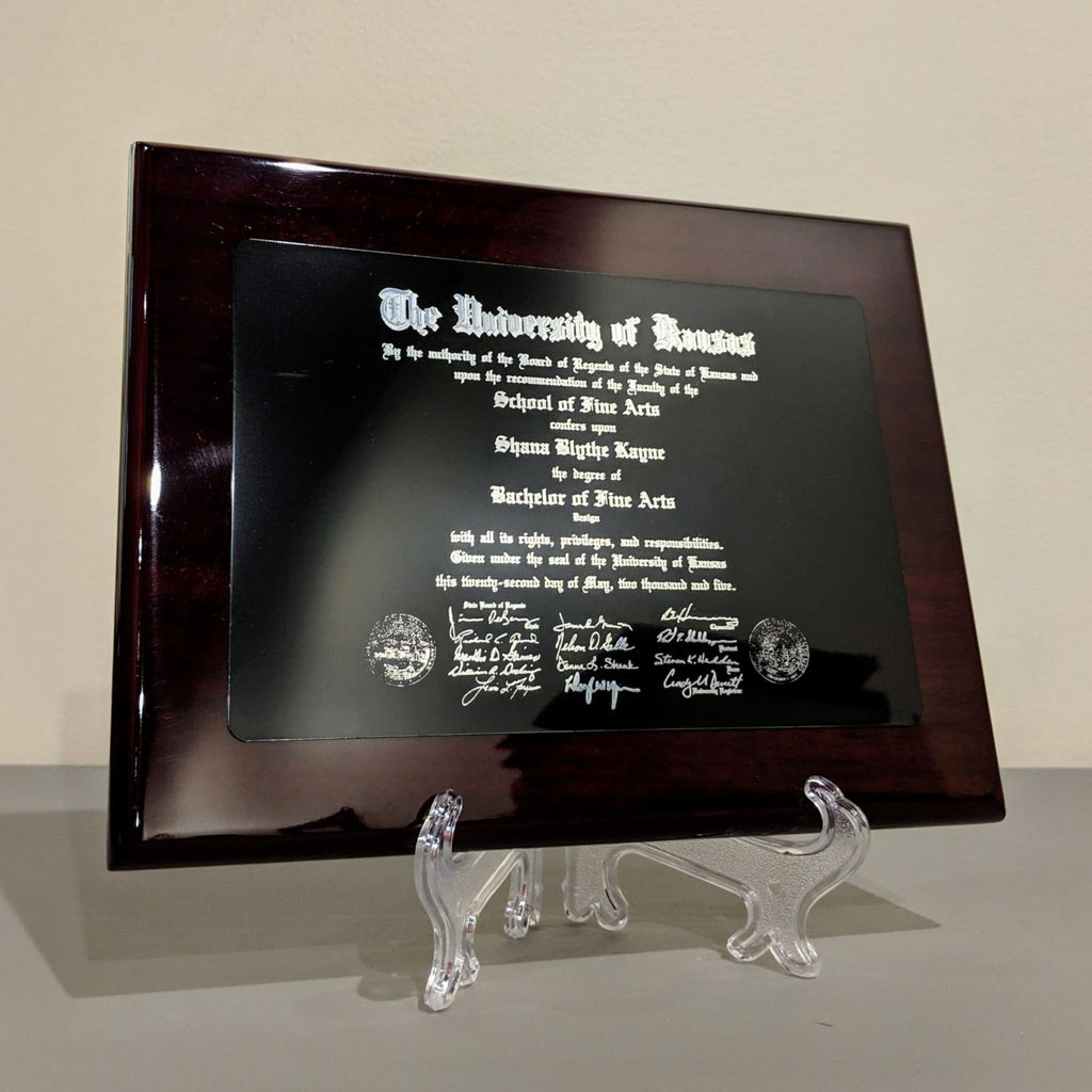 Piano Finish Plaque - Plaques