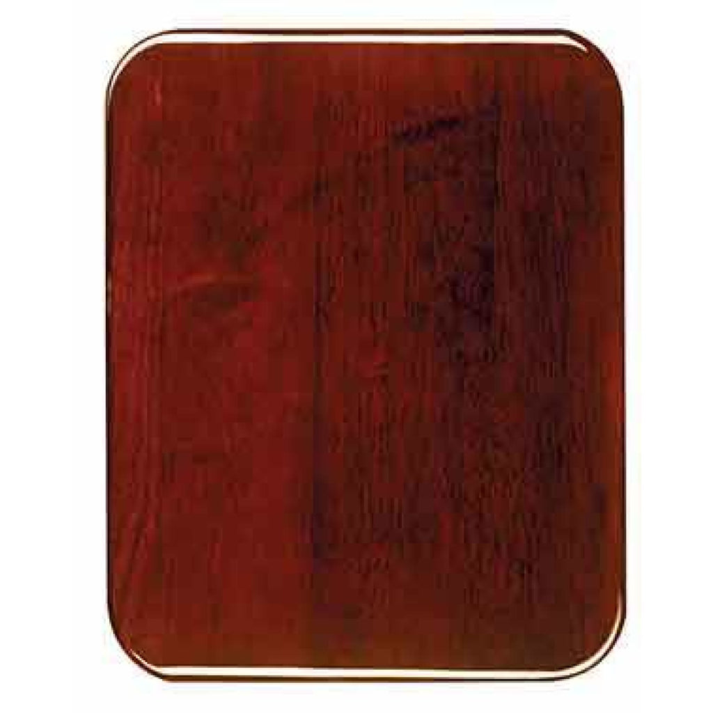 Piano Finish Plaque - Round Corners - Rosewood / 7x9 - Plaques