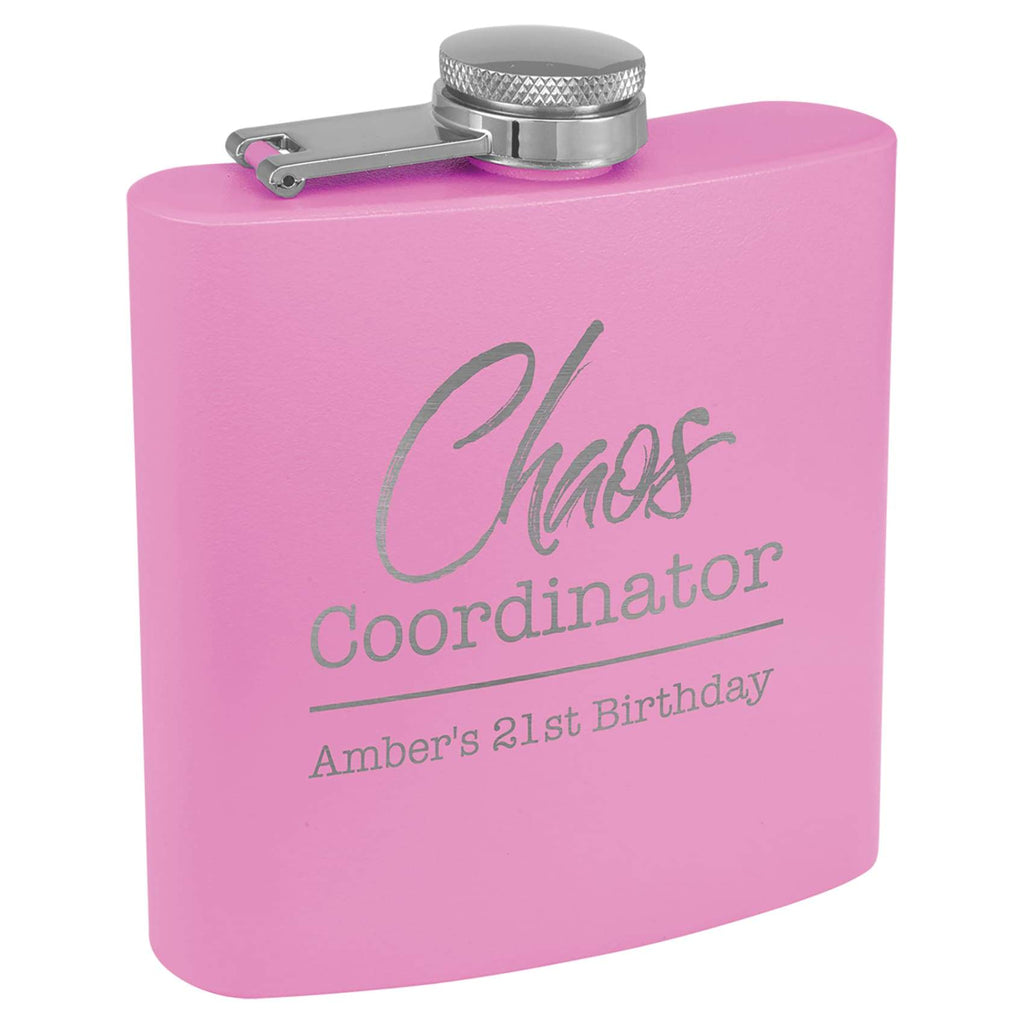 Powder Coated Stainless Steel Flask - Light Purple - Drinkware
