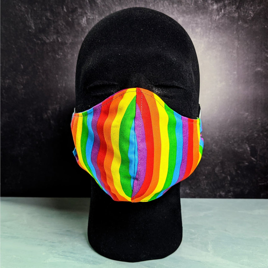 Rainbow Cotton Face Mask with Filter Pocket - Chase Street Originals