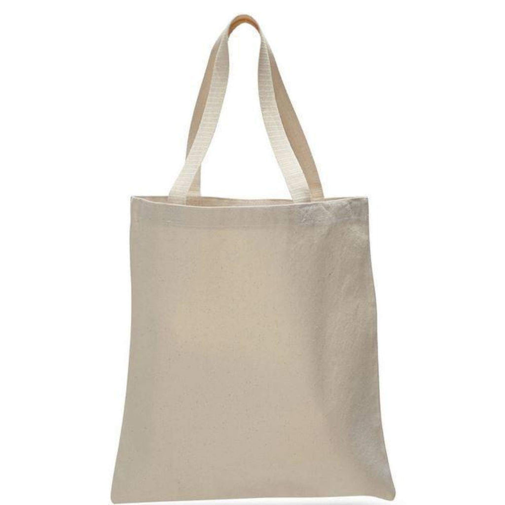 Rat-Invested Baltimore Large Canvas Tote - Natural - Chase Street Originals