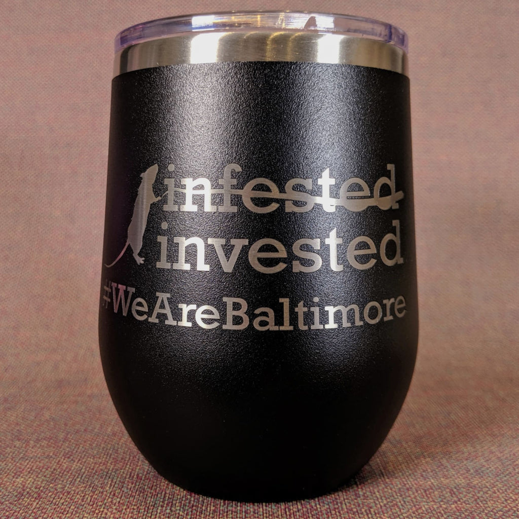 Rat-Invested Baltimore Stainless Steel Mug - Black - Chase Street Originals