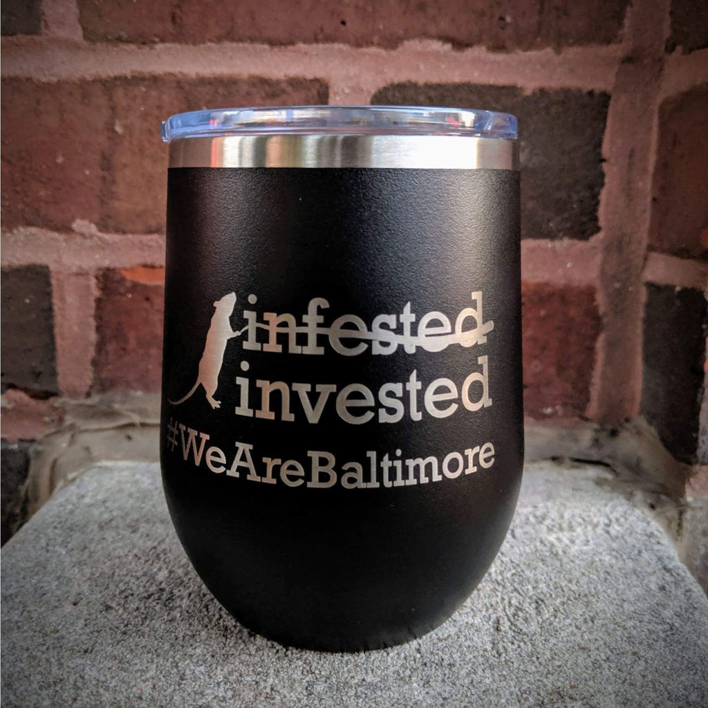 Rat-Invested Baltimore Stainless Steel Mug - Chase Street Originals