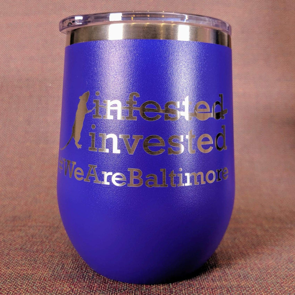 Rat-Invested Baltimore Stainless Steel Mug - Purple - Chase Street Originals