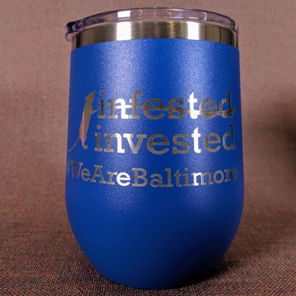 Rat-Invested Baltimore Stainless Steel Mug - Royal Blue - Chase Street Originals