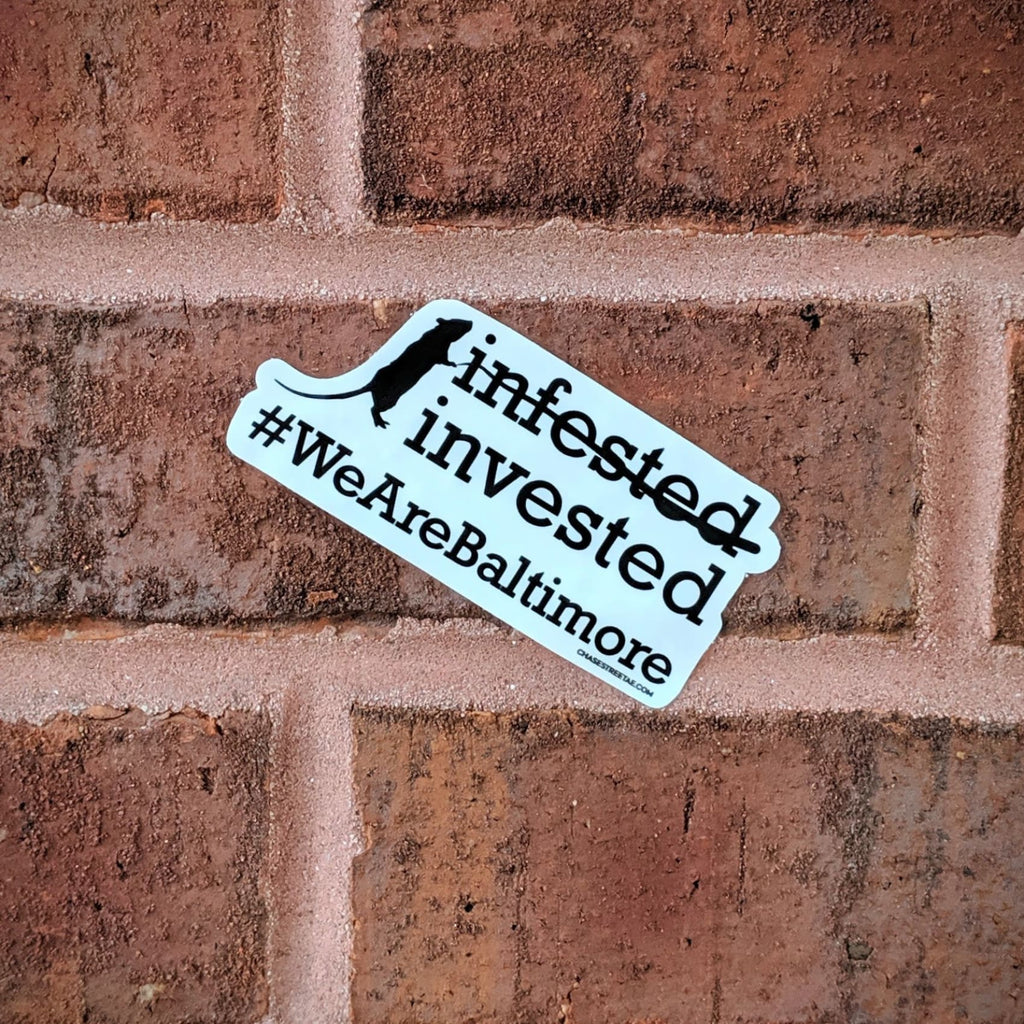 Rat-Invested Baltimore Sticker - Chase Street Originals