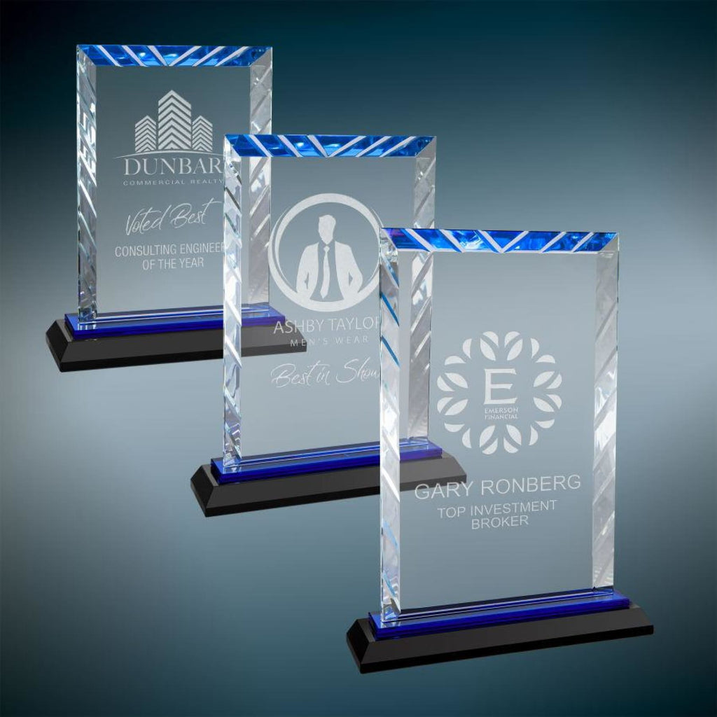 Rectangle Accent Glass Award - Art Glass