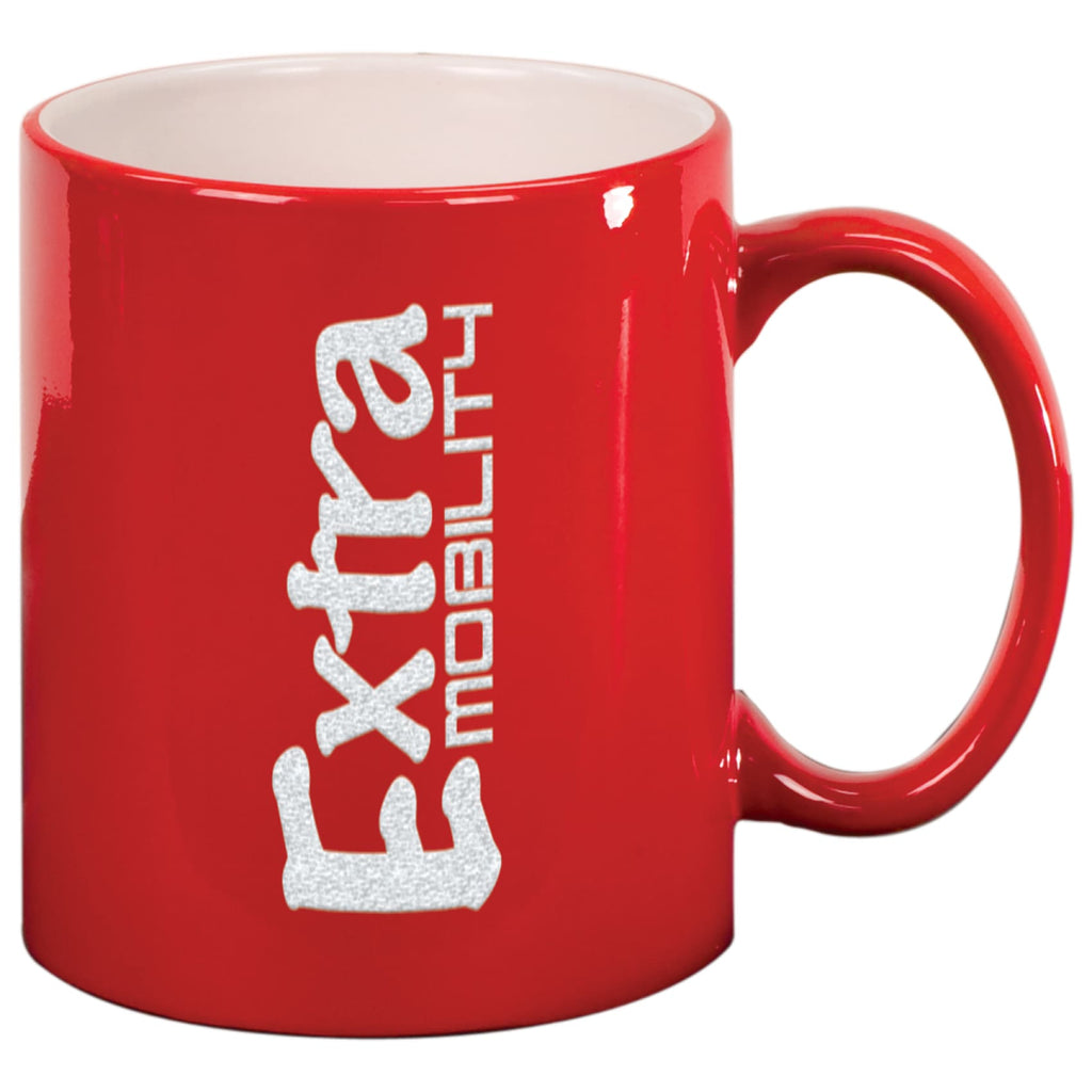 Round Ceramic Mug - Red - Drinkware