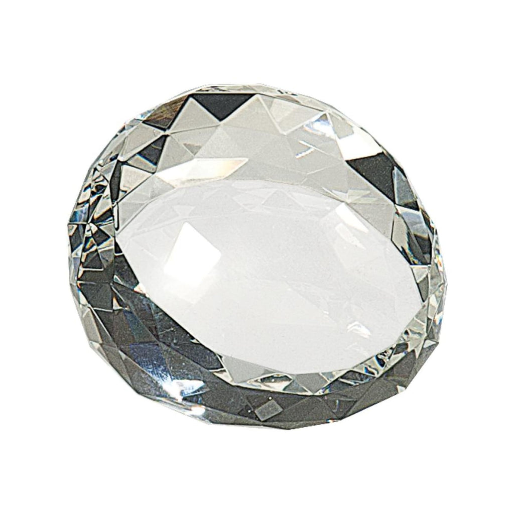 Round Crystal Facet Paperweight - Office Gifts
