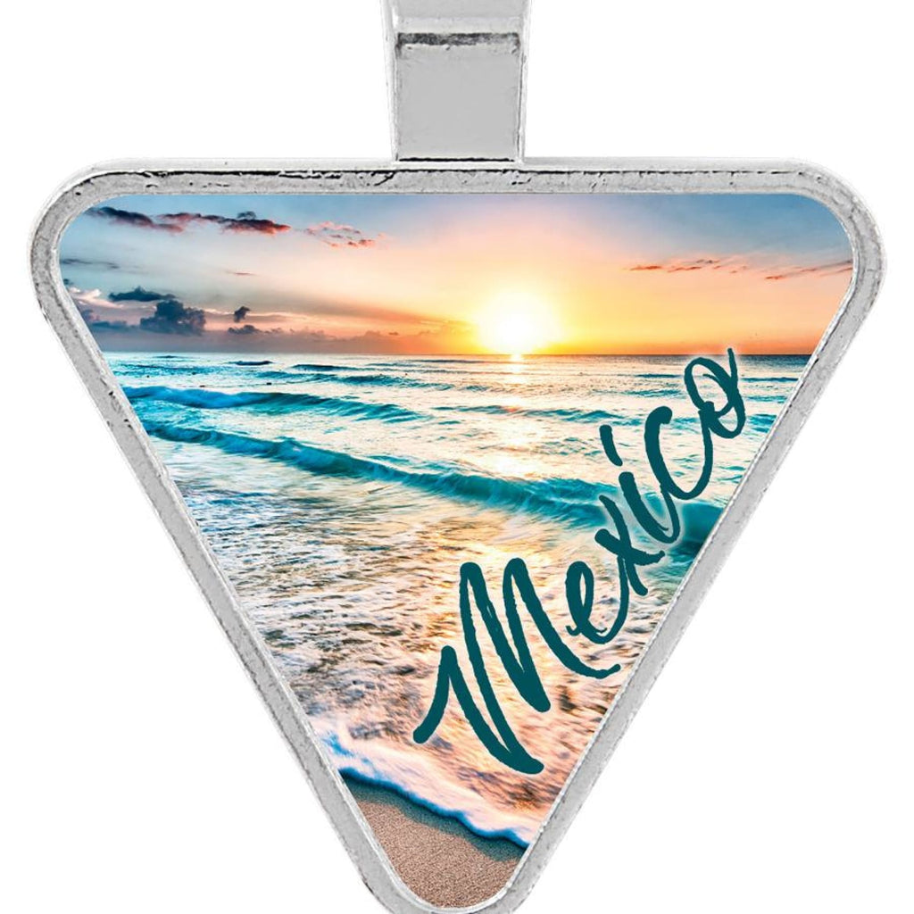 Silver Framed Pendant - 1.15 x 1.25 Triangle - Bags & Apparel