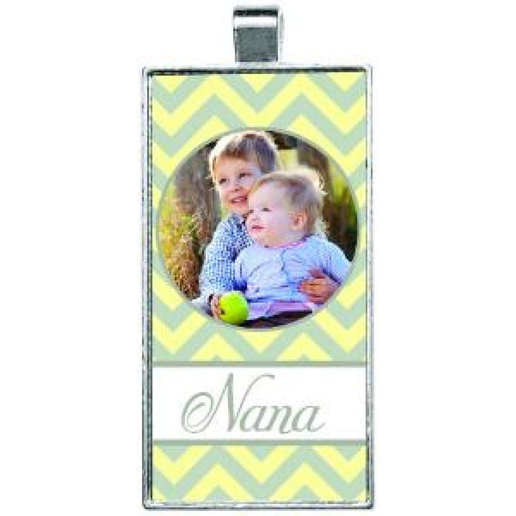 Silver Framed Pendant - 1x2 Rectangle - Bags & Apparel