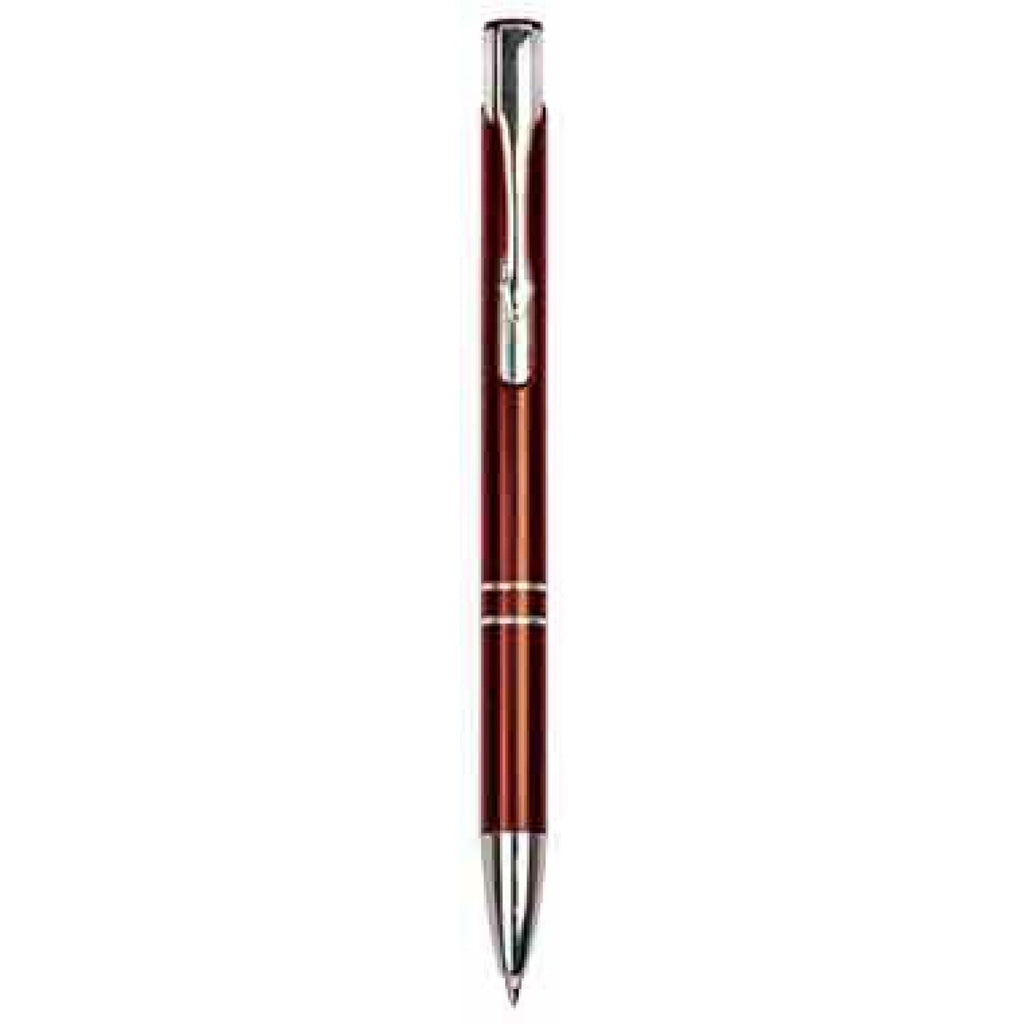 Silver-Trimmed Pen - Burgundy - Office Gifts