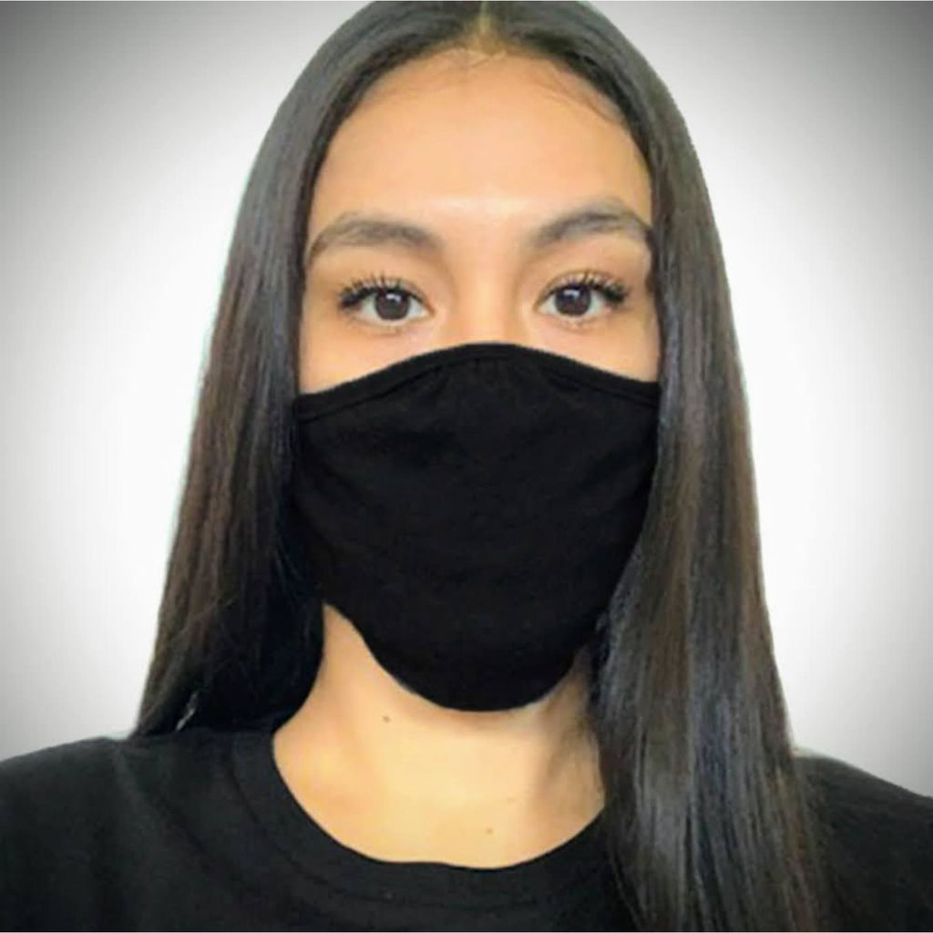 Solid-colored Face Mask - Black / Single - Bags & Apparel