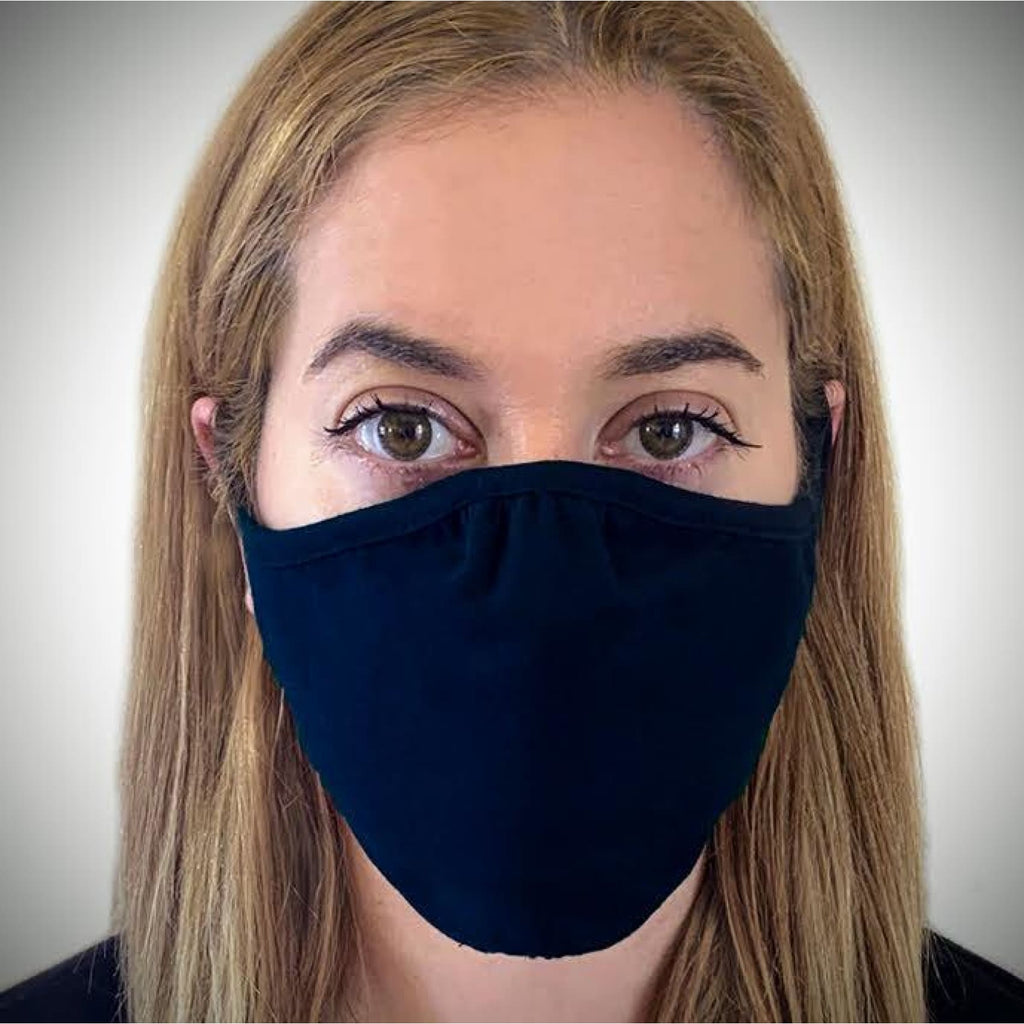 Solid-colored Face Mask - Navy / Single - Bags & Apparel