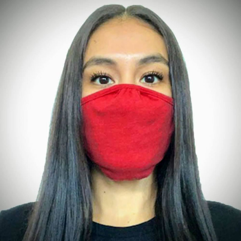 Solid-colored Face Mask - Red / Single - Bags & Apparel
