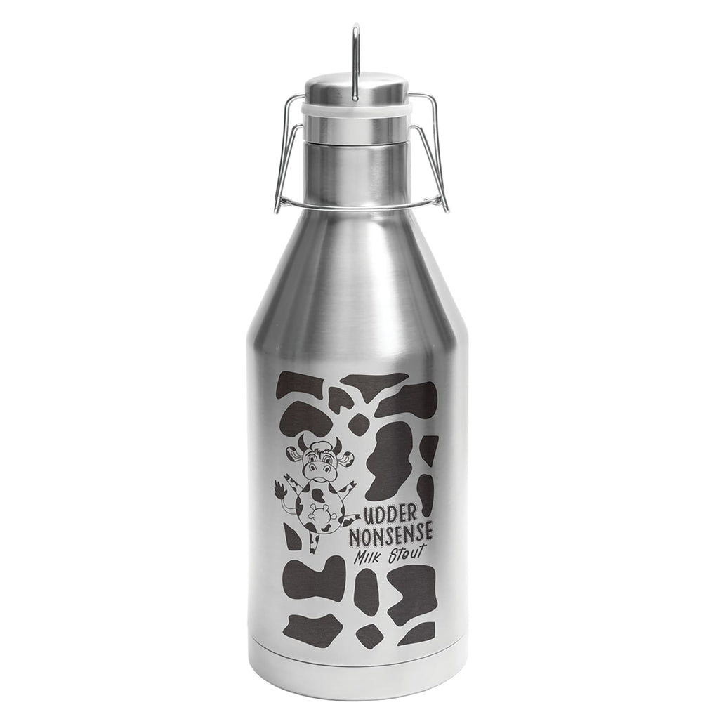 Stainless Steel Growler - Silver - Drinkware