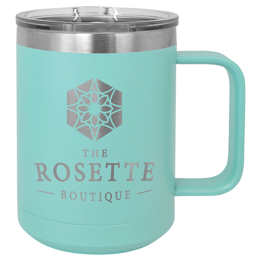 Stainless Steel Mug with Lid - Teal - Drinkware