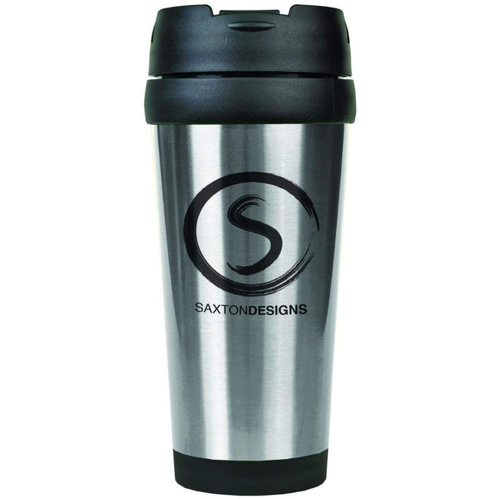 Stainless Steel Travel Mug - Silver - Drinkware