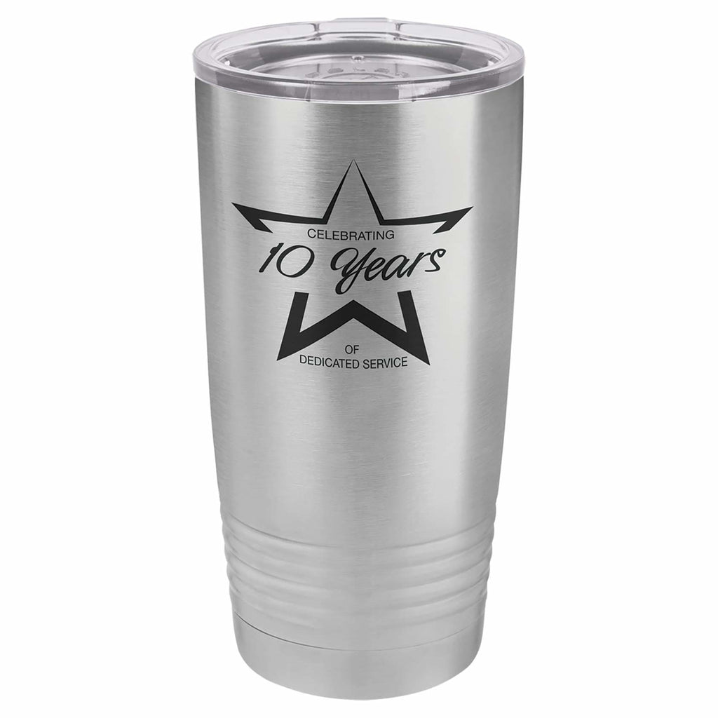 Stainless Steel Tumbler - Stainless Steel - Drinkware