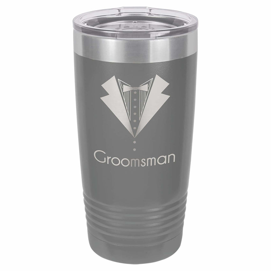 Stainless Steel Tumbler - Dark Gray - Drinkware