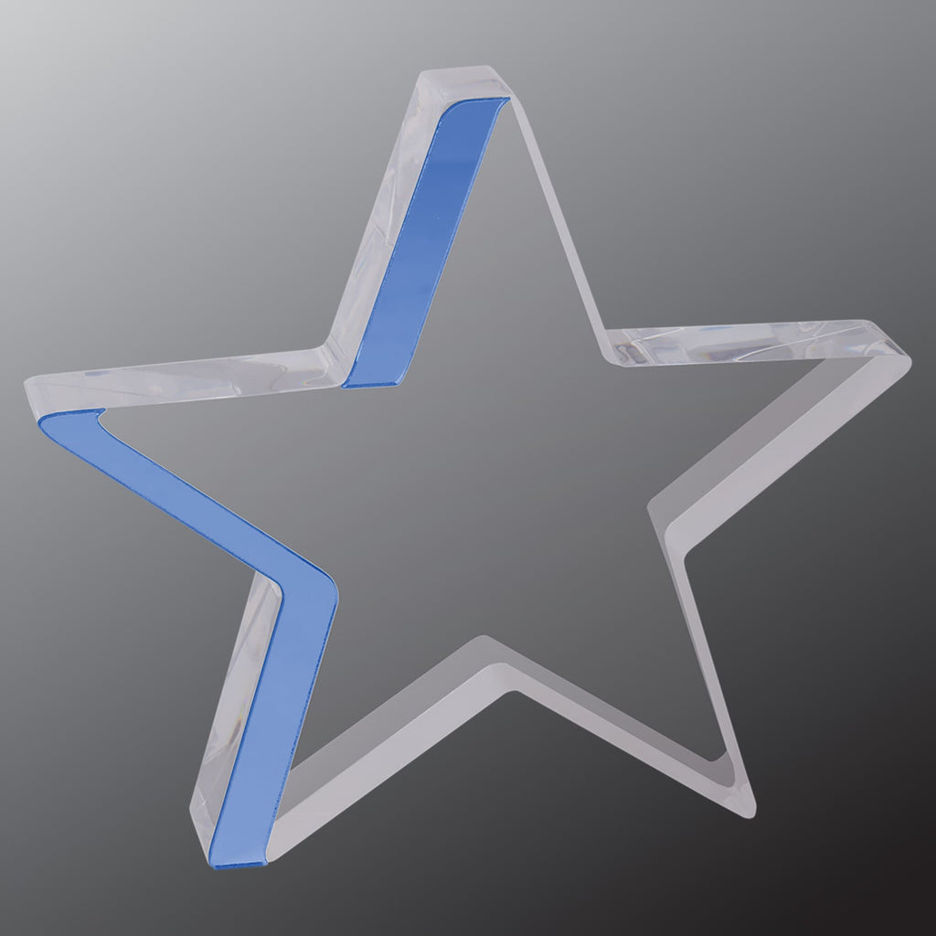 Star Award - Blue / 6 3/4 x 6 - Acrylic Awards