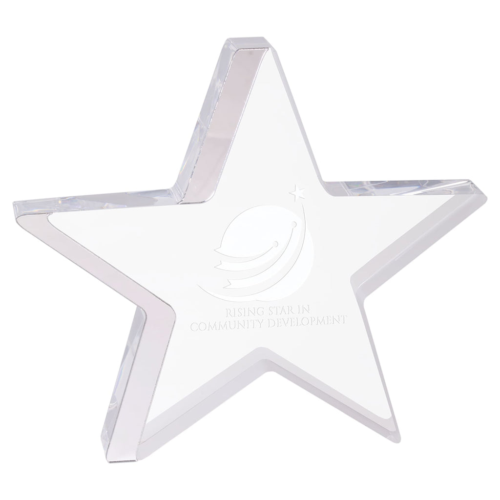 Star Award - Silver / 7 3/4 x 7 - Acrylic Awards