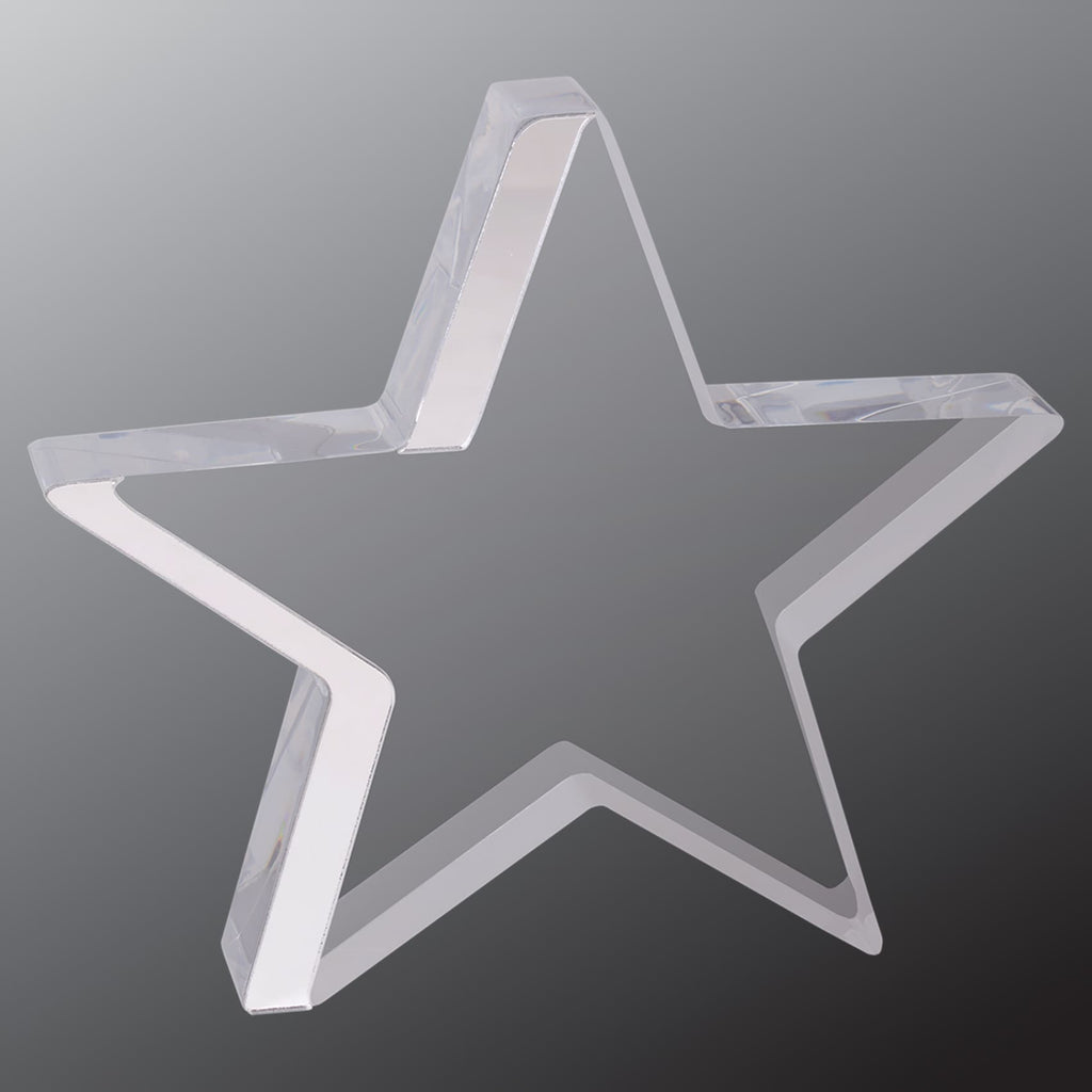 Star Award - Silver / 6 3/4 x 6 - Acrylic Awards
