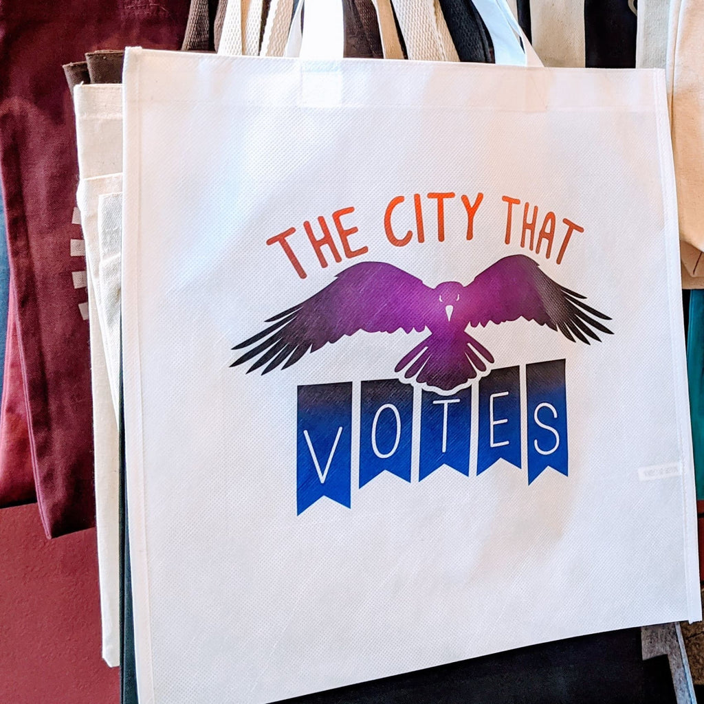 The City that Votes Recycled Tote Bag - Chase Street Originals