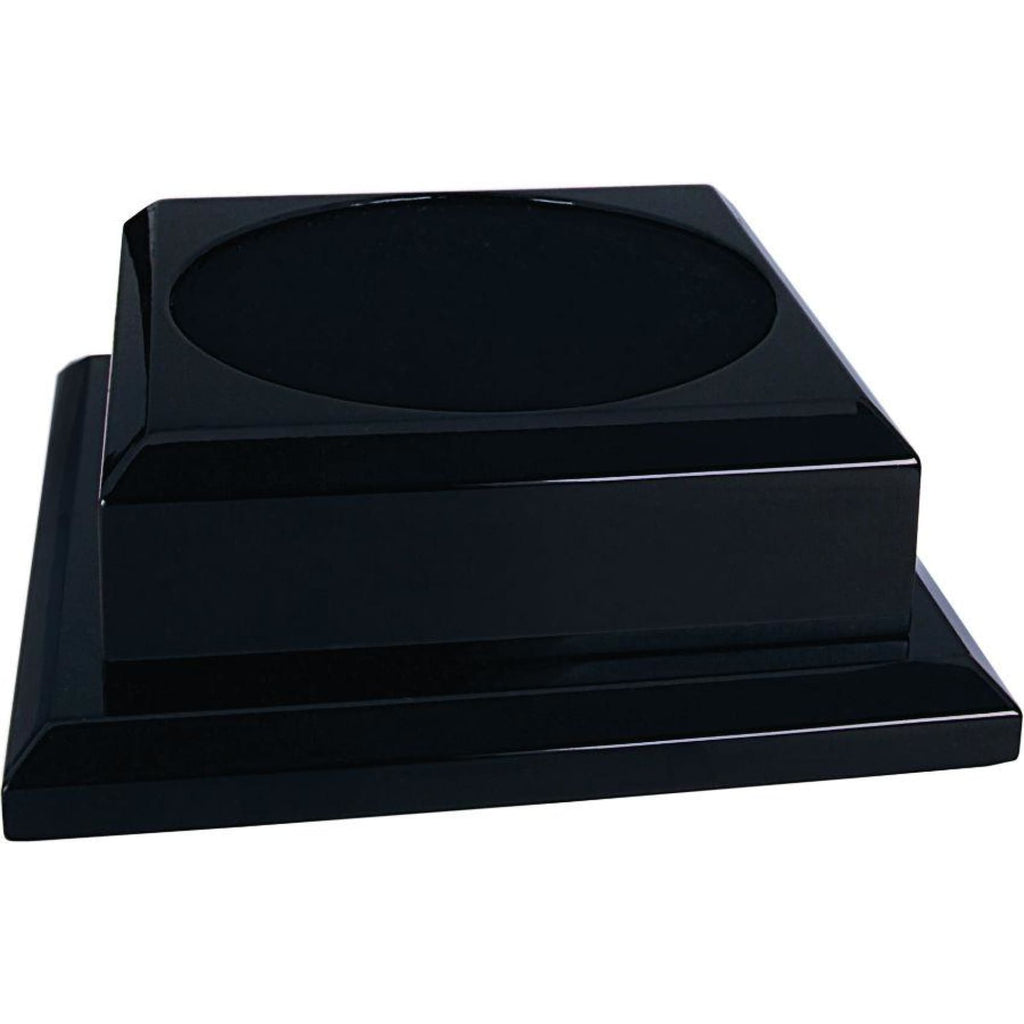 Urn Pedestal Base - 7x7 (4.5 diameter felt inset) / Black - Decor