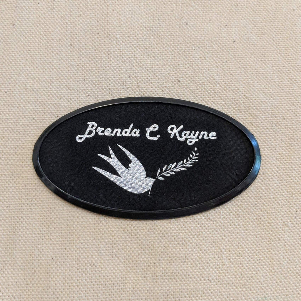 Vegan Leather Badge - Framed - Bags & Apparel