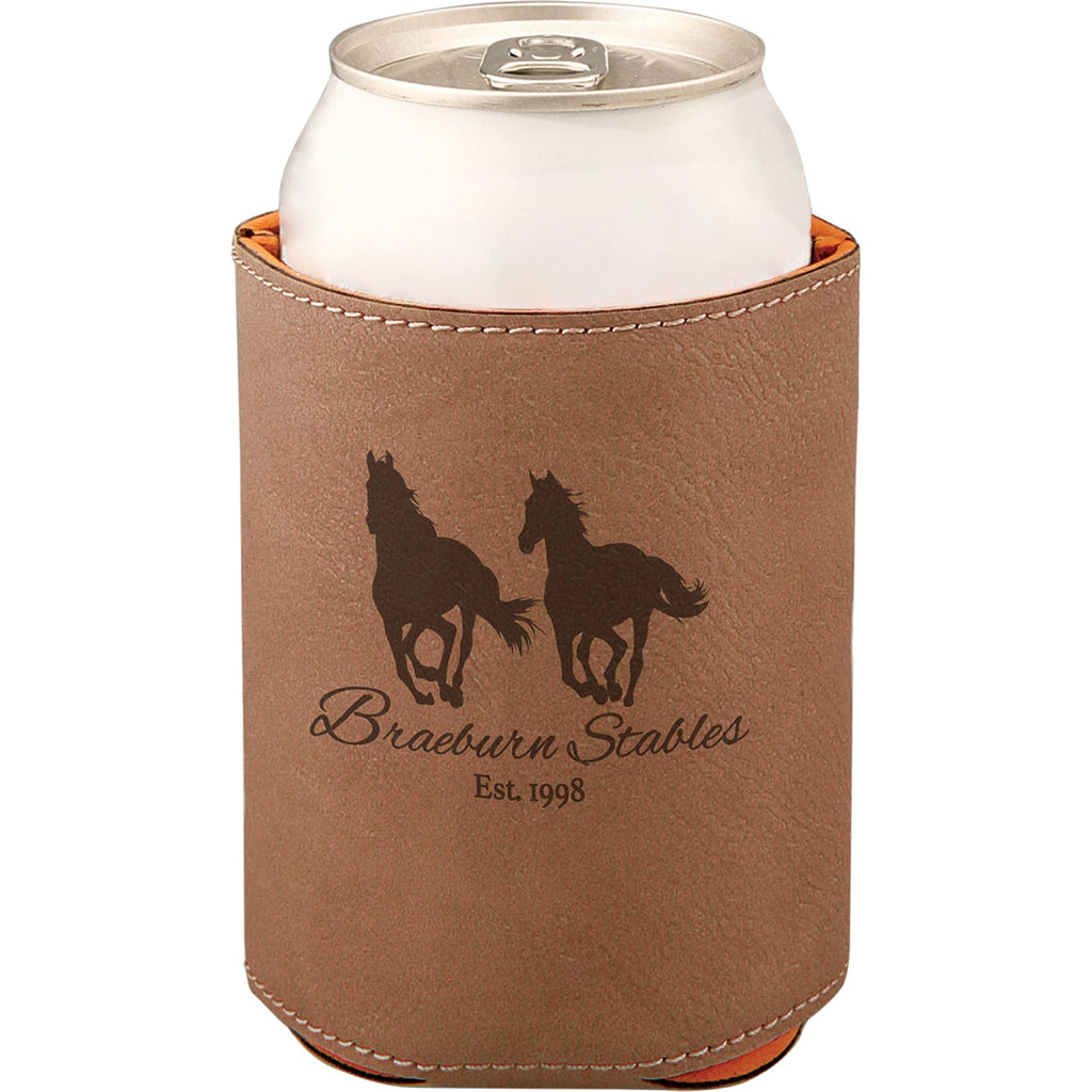Vegan Leather Beverage Cooler - Dark Brown - Office Gifts