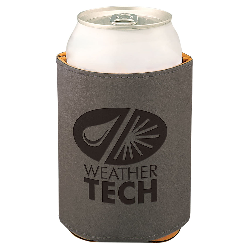 Vegan Leather Beverage Cooler - Gray - Office Gifts