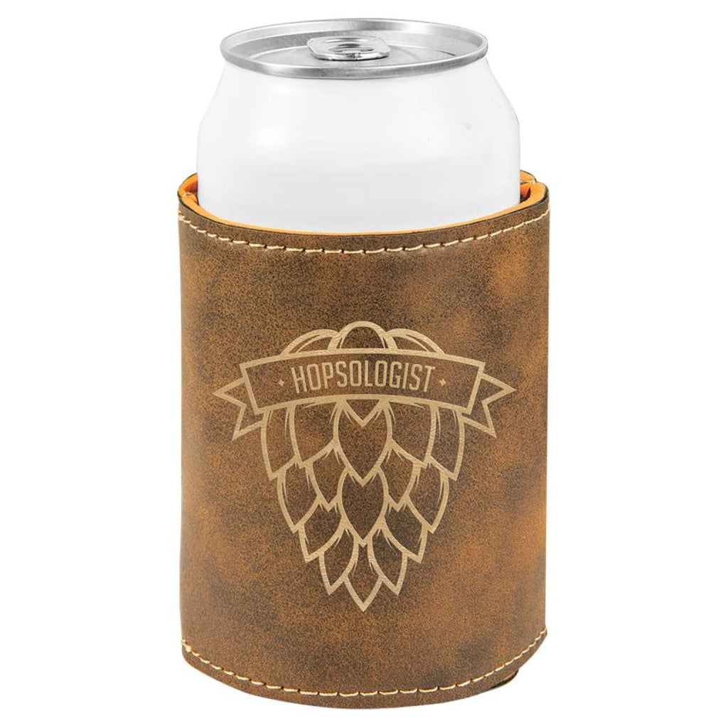 Vegan Leather Beverage Cooler - Rustic | Gold - Office Gifts
