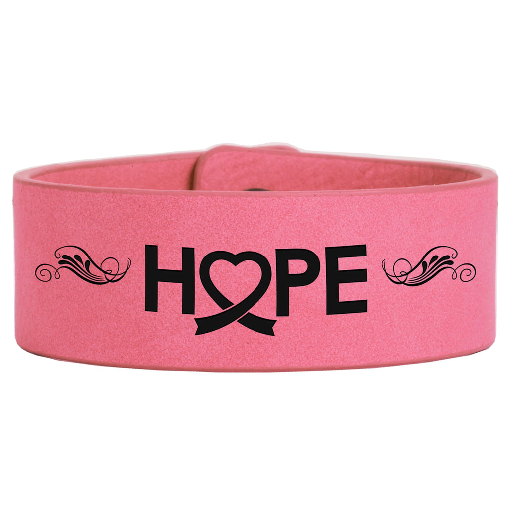 Vegan Leather Bracelet - Pink / 1 x 9 - Bags & Apparel